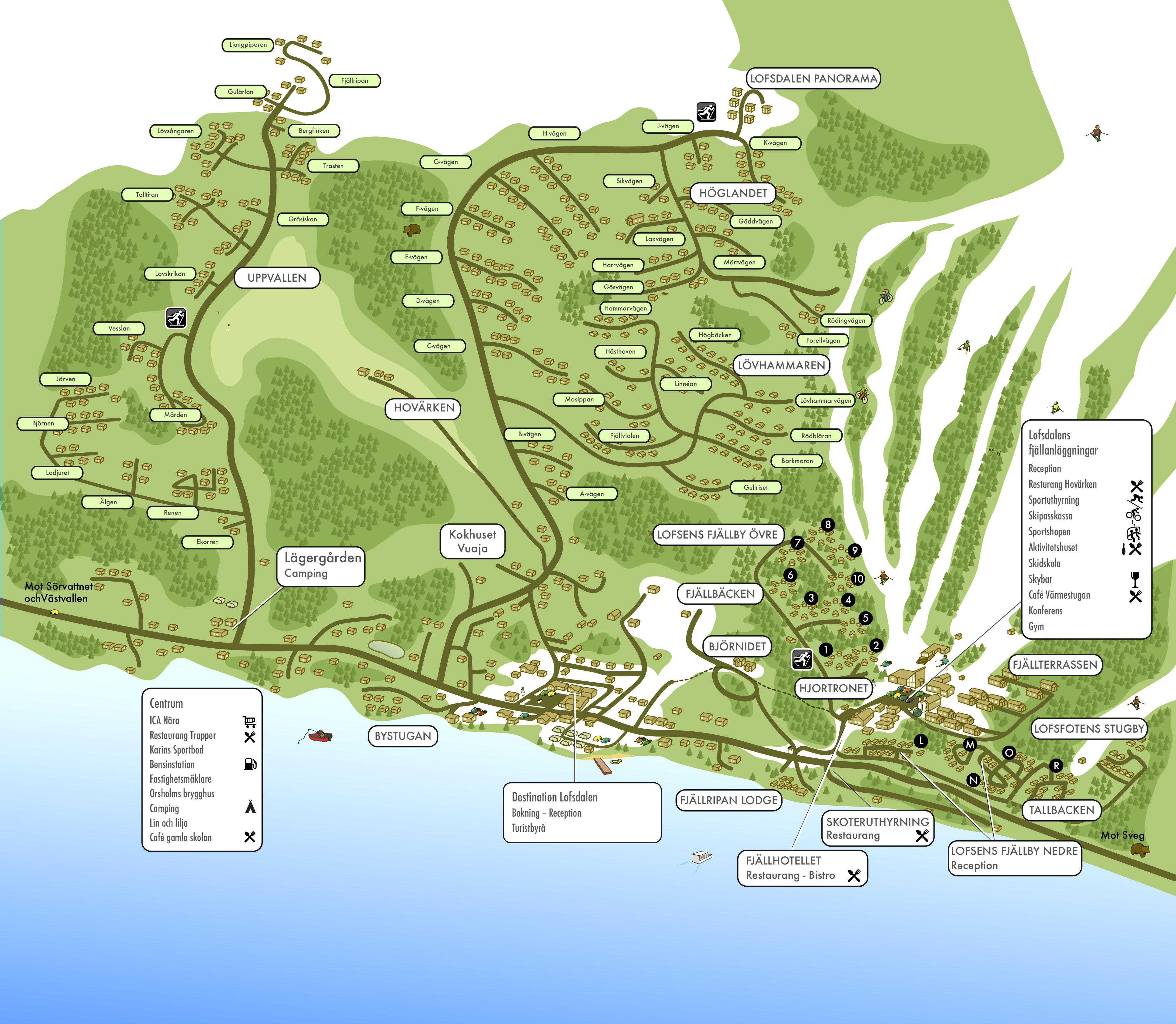 lofsdalen karta Områdeskarta | Lofsdalen lofsdalen karta