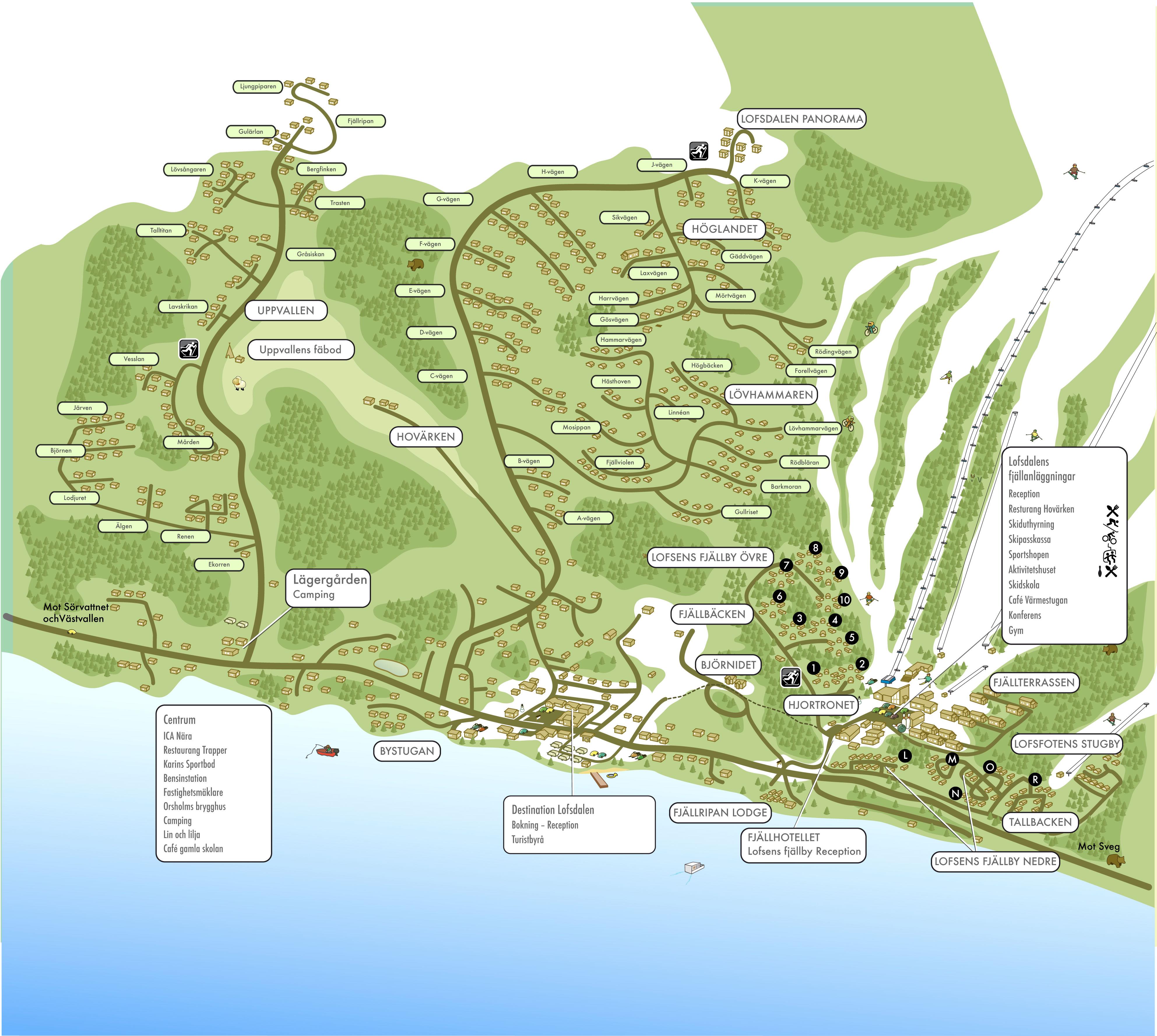 lofsdalen karta Boende | Lofsdalen lofsdalen karta