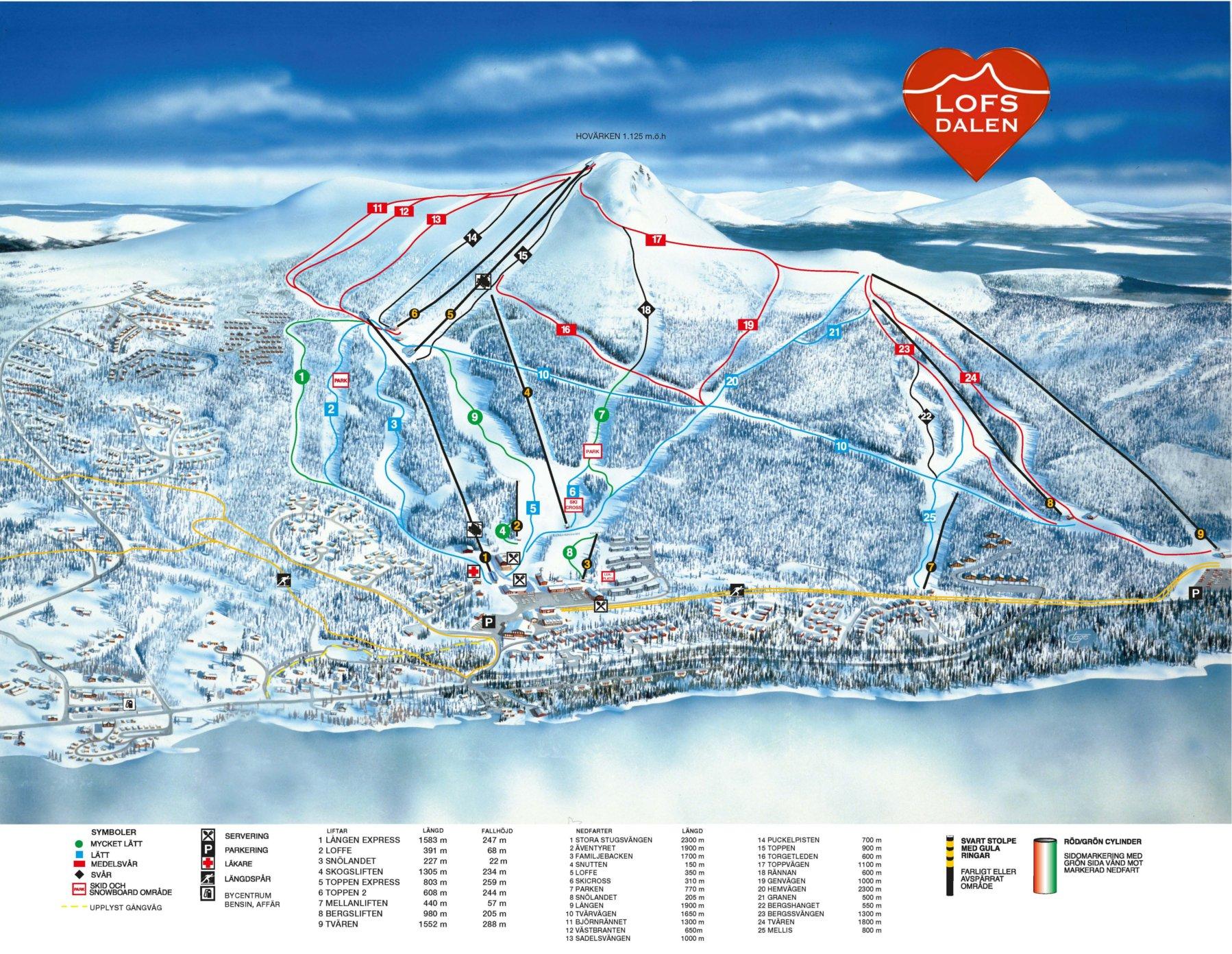 lofsdalen karta Skiing | Lofsdalen lofsdalen karta