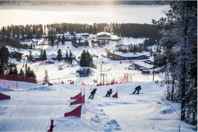 Skicross course in Lofsdalen